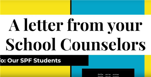A letter from your school counselors